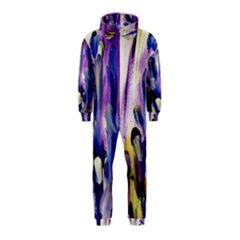 Purple Abstract Print  Hooded Jumpsuit (kids) by artistpixi