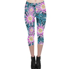 Whimsical Garden Capri Leggings  by DanaeStudio