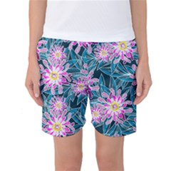 Whimsical Garden Women s Basketball Shorts