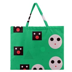 Audience  Zipper Large Tote Bag by Valentinaart