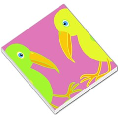 Parrots Small Memo Pads by Valentinaart