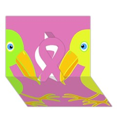 Parrots Ribbon 3d Greeting Card (7x5) by Valentinaart