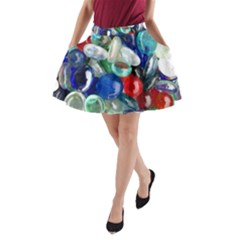 Random Baubles A Line Pocket Skirt by artistpixi