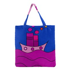 Boat Grocery Tote Bag by Valentinaart