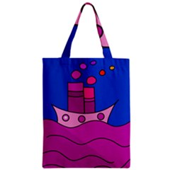 Boat Zipper Classic Tote Bag by Valentinaart