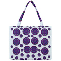 Shimmering Floral Abstracte Mini Tote Bag by pepitasart