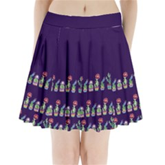 Dress Cute Cactus Blossom Pleated Mini Skirt by DanaeStudio