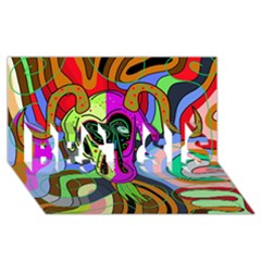 Colorful Goat Best Sis 3d Greeting Card (8x4) by Valentinaart