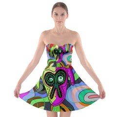 Colorful Goat Strapless Bra Top Dress by Valentinaart