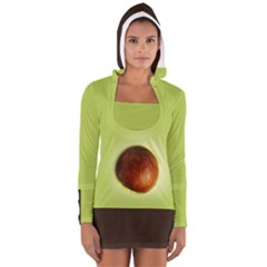 Avocado3 Women s Long Sleeve Hooded T Shirt