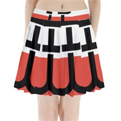 Flag Of The Polish Underground State, 1939-1945 Pleated Mini Skirt by abbeyz71