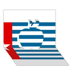 Flag Of Free Papua Movement  Apple 3d Greeting Card (7x5) by abbeyz71
