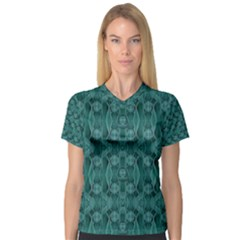 Celtic Gothic Knots Women s V Neck Sport Mesh Tee by pepitasart