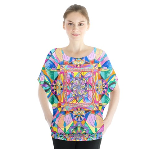 Renewal - Batwing Chiffon Women s Blouse by tealswan
