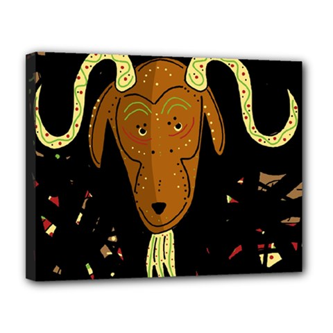Billy Goat 2 Canvas 14  X 11  by Valentinaart