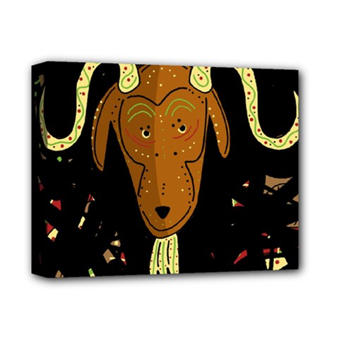 Billy Goat 2 Deluxe Canvas 14  X 11  by Valentinaart