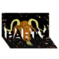 Billy Goat 2 Party 3d Greeting Card (8x4)