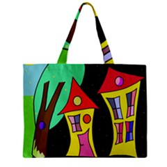 Two Houses 2 Zipper Mini Tote Bag by Valentinaart