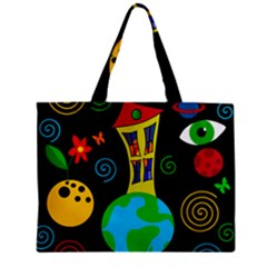 Playful Universe Zipper Mini Tote Bag by Valentinaart