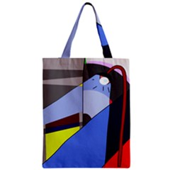 Street Light Zipper Classic Tote Bag by Valentinaart