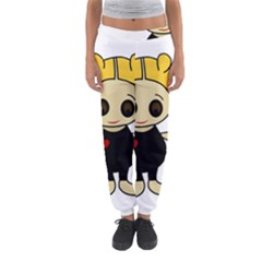 Cute Doll Girl Women s Jogger Sweatpants by Valentinaart