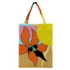Sunflower On Sunbathing Classic Tote Bag by Valentinaart