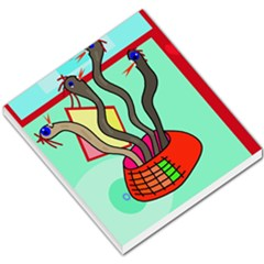 Dancing  Snakes Small Memo Pads by Valentinaart