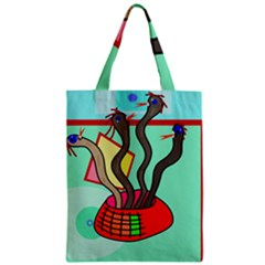 Dancing  Snakes Zipper Classic Tote Bag by Valentinaart