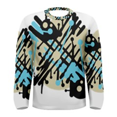 Abstract Decor   Blue Men s Long Sleeve Tee