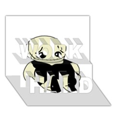 Halloween Sad Monster Work Hard 3d Greeting Card (7x5)