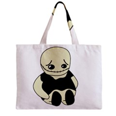 Halloween Sad Monster Zipper Mini Tote Bag by Valentinaart
