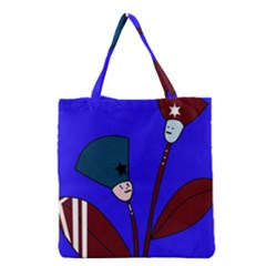 Soldier Flowers  Grocery Tote Bag by Valentinaart