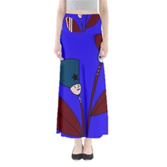 Soldier Flowers  Maxi Skirts by Valentinaart