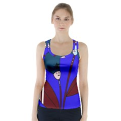 Soldier Flowers  Racer Back Sports Top by Valentinaart