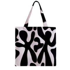 Black And White Dance Zipper Grocery Tote Bag by Valentinaart