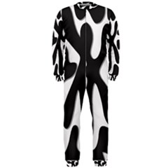 Black And White Dance Onepiece Jumpsuit (men)  by Valentinaart