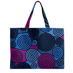 Blue Hypnoses Zipper Mini Tote Bag by Valentinaart