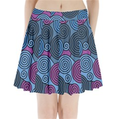 Blue Hypnoses Pleated Mini Skirt by Valentinaart