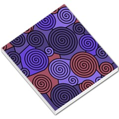 Blue And Red Hypnoses  Small Memo Pads by Valentinaart