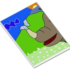 Butterfly And Rhino Large Memo Pads by Valentinaart