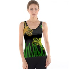 Neon Dragonflies Tank Top by Valentinaart