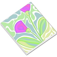 Purple Flowers Small Memo Pads by Valentinaart