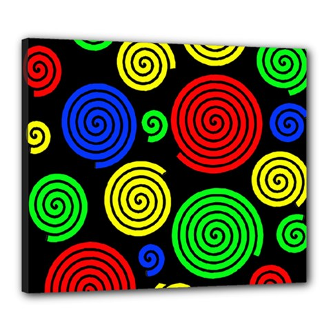 Colorful Hypnoses Canvas 24  X 20  by Valentinaart