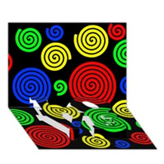 Colorful Hypnoses Love Bottom 3d Greeting Card (7x5) by Valentinaart