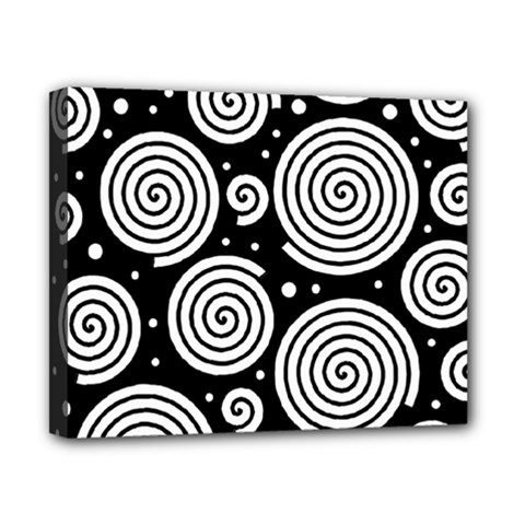 Black And White Hypnoses Canvas 10  X 8  by Valentinaart