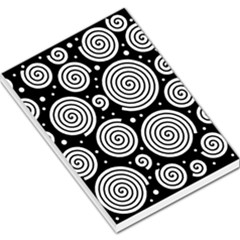 Black And White Hypnoses Large Memo Pads by Valentinaart