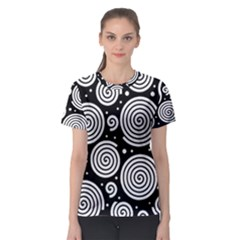 Black And White Hypnoses Women s Sport Mesh Tee by Valentinaart