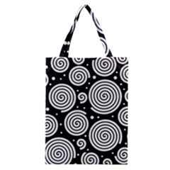 Black And White Hypnoses Classic Tote Bag by Valentinaart