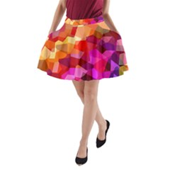 Geometric Fall Pattern A Line Pocket Skirt by DanaeStudio