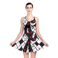 On The Dance Floor  Reversible Skater Dress by Valentinaart